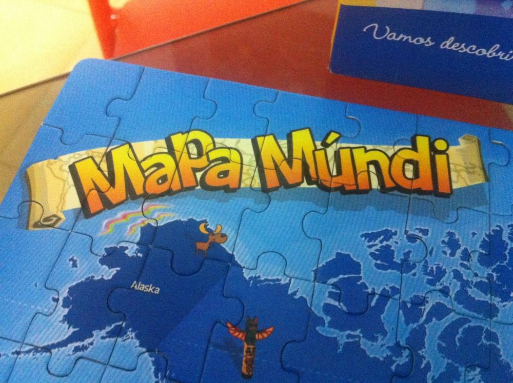 Brinquedo: Mapa Múndi - Quebra cabeça 200 peças (4/6)