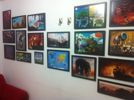 Exhibition of ART in the gallery Clébio Sória called START in City council of Porto Alegre -2011