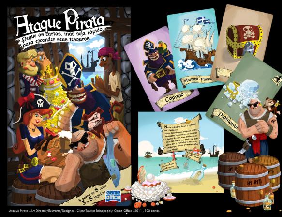 Ataque Pirata - Jogo de cartas