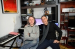 Dia de gravação da locução com Luciano Albo.